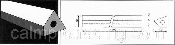 Керамическая подкладка PZ 1500/25 Brown,Loose,4-angle