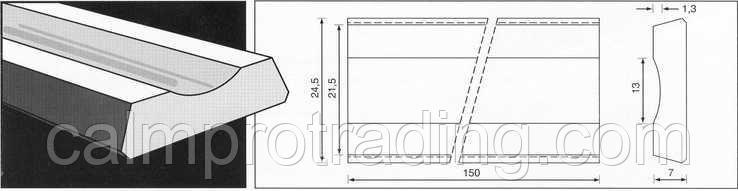 Керамическая подкладка PZ 1500/32 Grey, Loose, Concave