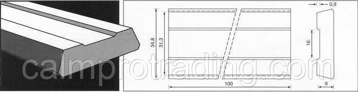 Керамическая подкладка PZ 1500/33 Grey,Loose,Rectang