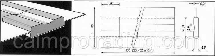 Керамическая подкладка PZ 1500/87 Grey,Tape,Concave