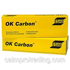 Угольный электрод OK Carbon DC Rec 5x15x305