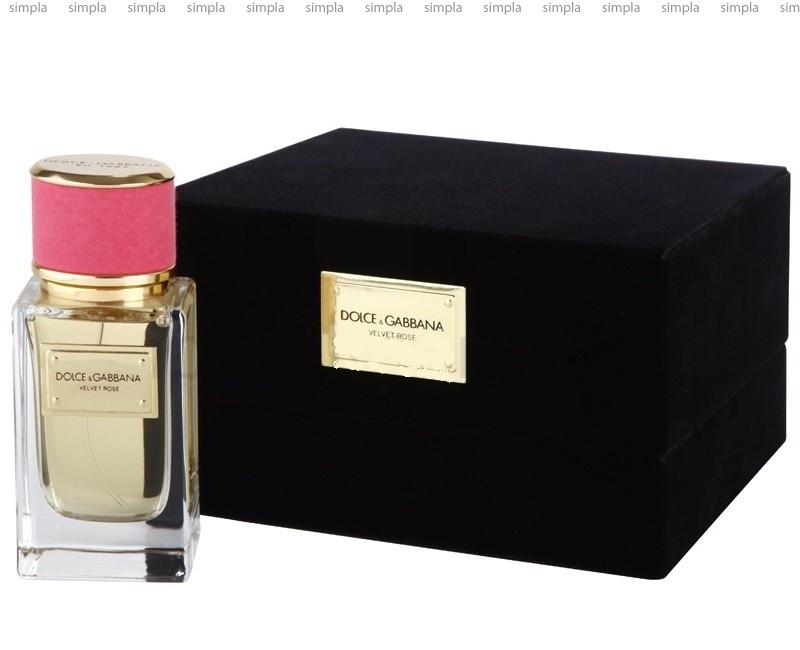 Dolce & Gabbana Velvet Rose парфюмированная вода объем 50 мл (ОРИГИНАЛ)