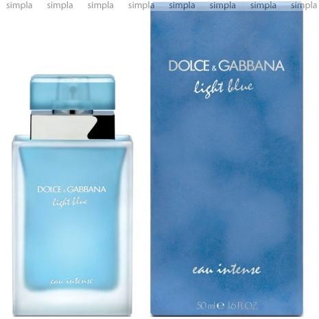 Dolce & Gabbana Light Blue Eau Intense парфюмированная вода объем 50 мл (ОРИГИНАЛ)