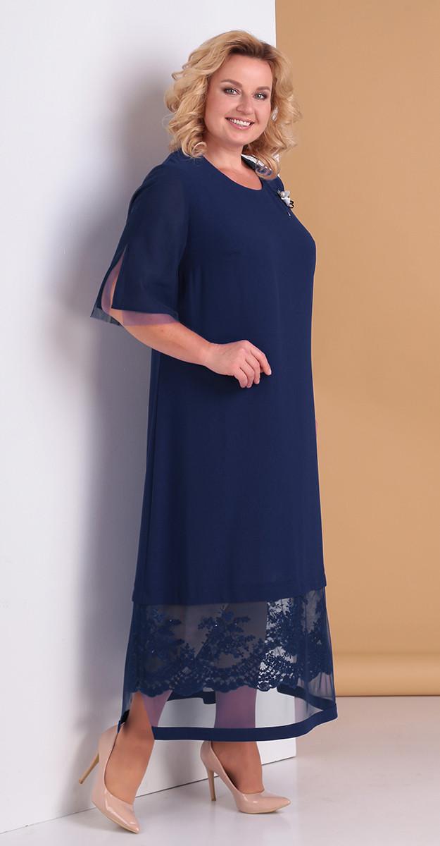 Платье Novella Sharm-3301-с, темно-синий, 66