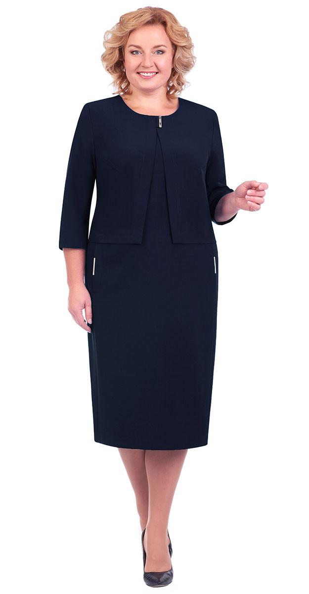 Платье Линия-Л-Б-1602, темно-синий, 56