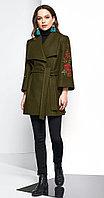 Пальто Lissana-3613, зеленый, 52