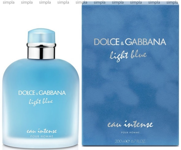 Dolce & Gabbana Light Blue Eau Intense Pour Homme парфюмированная вода объем 50 мл (ОРИГИНАЛ)