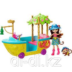 """Mattel Enchantimals Игровой набор """"Джунгли-лодка"""""""