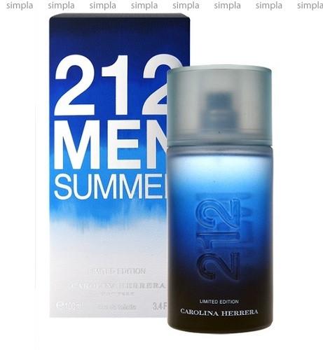 Carolina Herrera 212 Summer For Men туалетная вода объем 100 мл тестер (ОРИГИНАЛ)