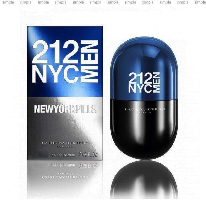 Carolina Herrera 212 NYC Men Pills туалетная вода объем 20 мл (ОРИГИНАЛ)
