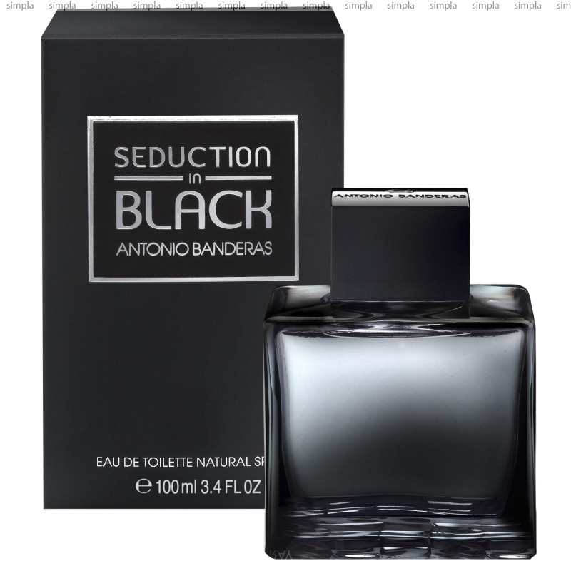 Antonio Banderas Seduction in Black туалетная вода объем 100 мл (ОРИГИНАЛ)