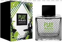 Antonio Banderas Play In Black Seduction For Men туалетная вода объем 100 мл тестер (ОРИГИНАЛ)