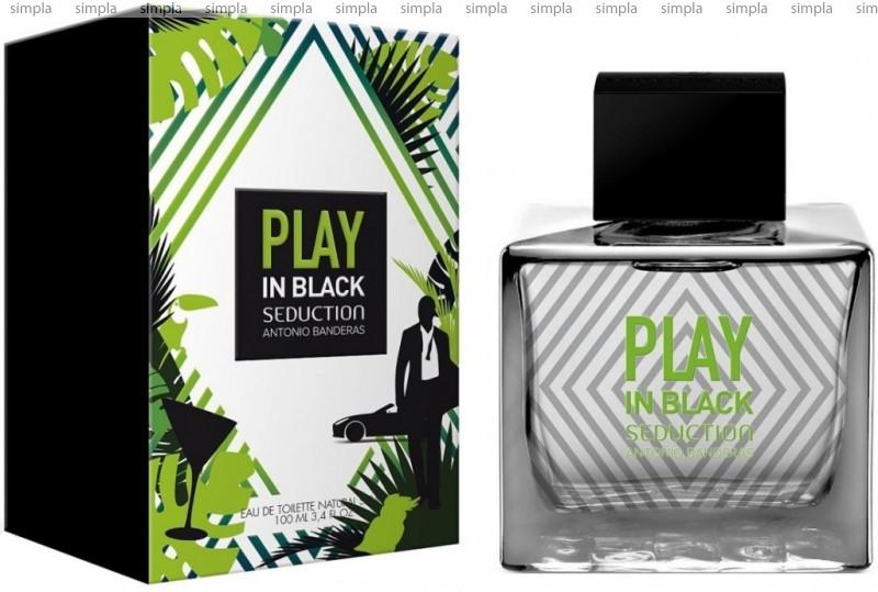 Antonio Banderas Play In Black Seduction For Men туалетная вода объем 100 мл (ОРИГИНАЛ)