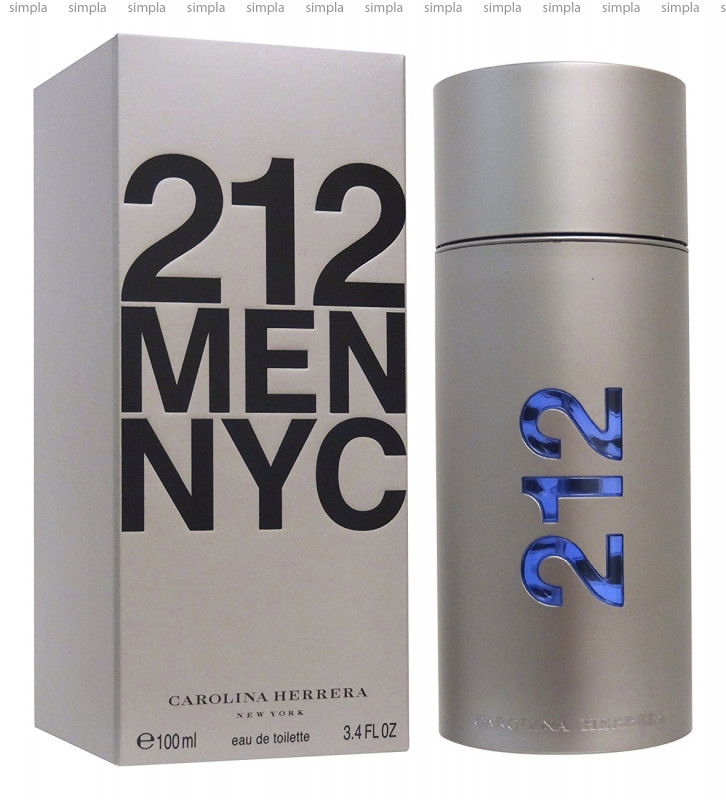 Carolina Herrera 212 NYC Men туалетная вода объем 50 мл (ОРИГИНАЛ)