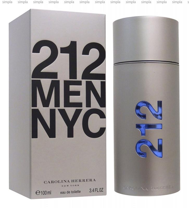 Carolina Herrera 212 NYC Men туалетная вода объем 100 мл тестер (ОРИГИНАЛ)