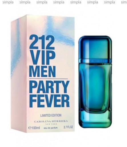 Carolina Herrera 212 VIP Men Party Fever туалетная вода объем 100 мл тестер (ОРИГИНАЛ)