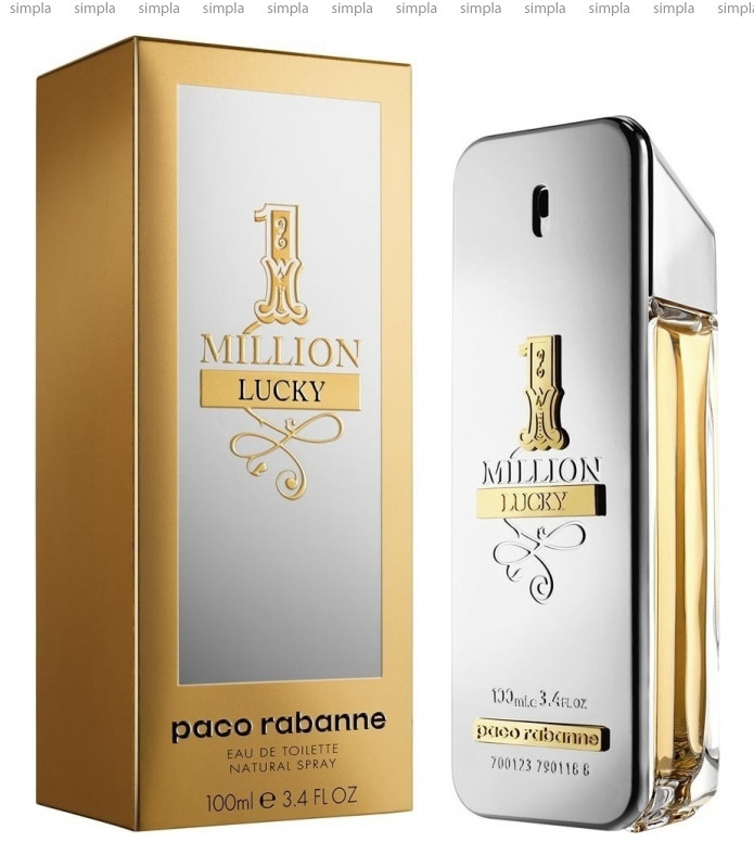 Paco Rabanne 1 Million Lucky туалетная вода объем 100 мл тестер (ОРИГИНАЛ)