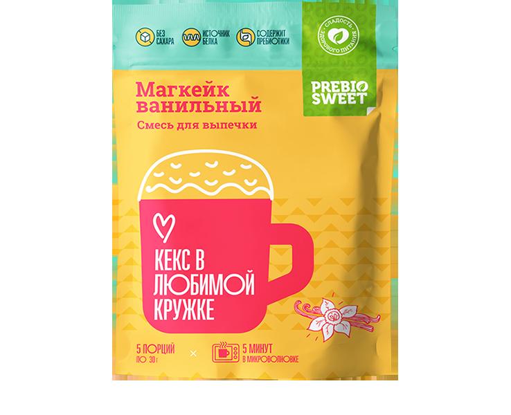 Смесь сухая для выпечки «Магкейк* ванильный» с семенами чиа.
