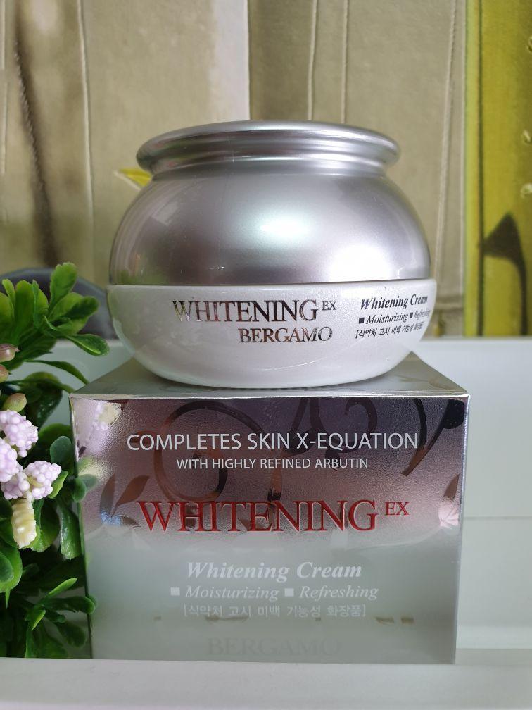 Крем для лица отбеливающий Bergamo Whitening Ex Whitening Cream 50g.