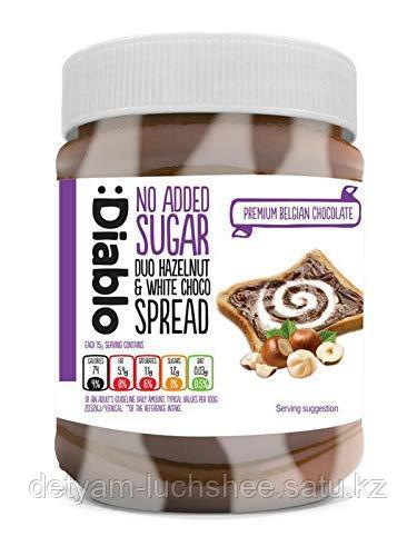Diablo шоколадная-ореховая паста (темный и белый шоколад) 350г