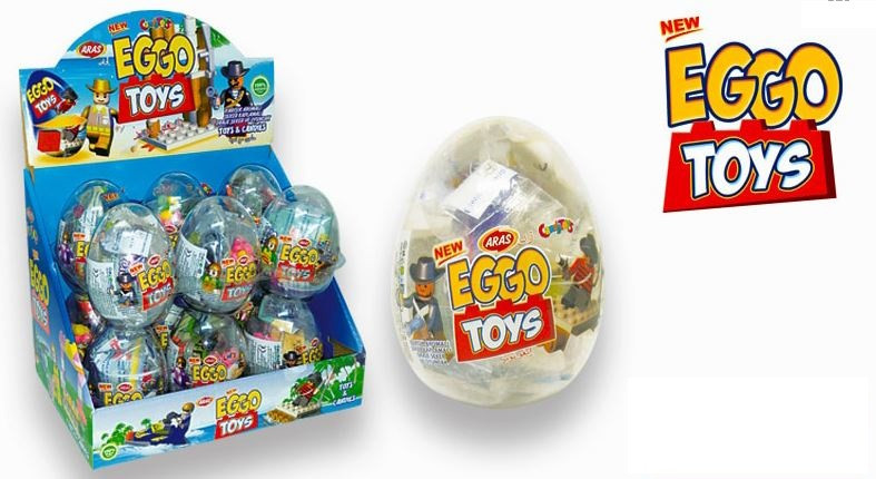 Яйцо с карамелью и игрушкой Eggo Toys (12 шт в упаковке)