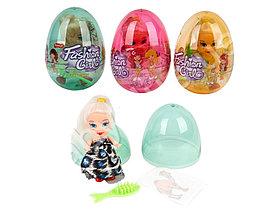 Яйцо с карамелью и игрушкой Кукла Fashion Girl (12 шт в упаковке)
