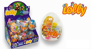 Яйцо с карамелью и игрушкой Кукла Lolly (12 шт в упаковке)