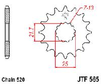 Звезда передняя JTF 565.15