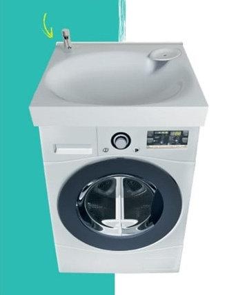 Раковина над стиральной машиной Lavanderia 500 х 600 х 120 мм. (POLYTITAN), фото 2