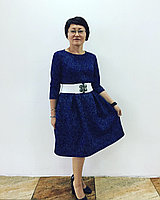 Платье синее  неопрен