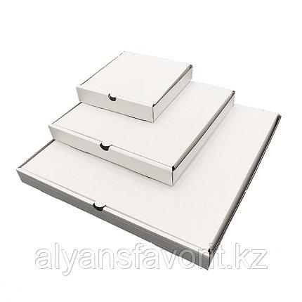 Коробка для пиццы,размер: 330*330*40 мм,гофро, белая.РК, фото 2