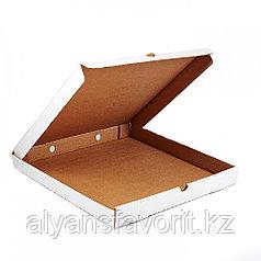 Коробка для пиццы, размер: 300*300*40 мм,гофро, белая.РК