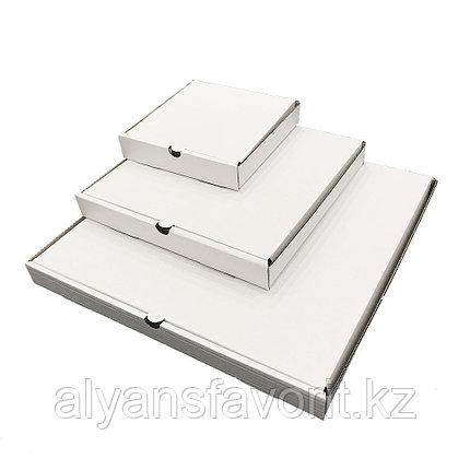 Коробка для пиццы, размер: 500*500*40 мм,гофро, белая.РК, фото 2