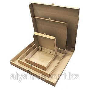Коробка для пиццы,размер: 400*400*30 мм,гофро, бурая.РК, фото 2