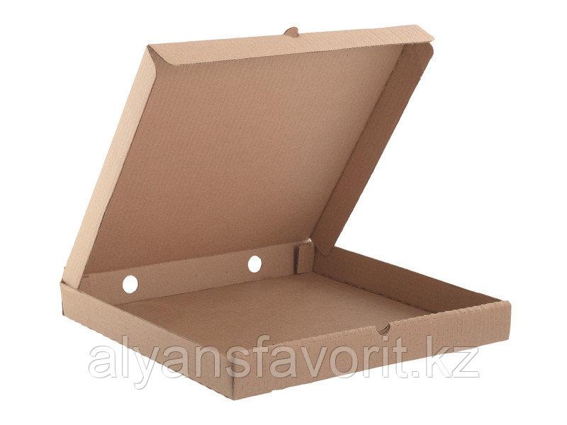 Коробка для пиццы,размер: 400*400*30 мм,гофро, бурая.РК