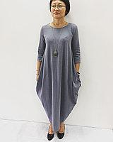 Серое платье Бохо