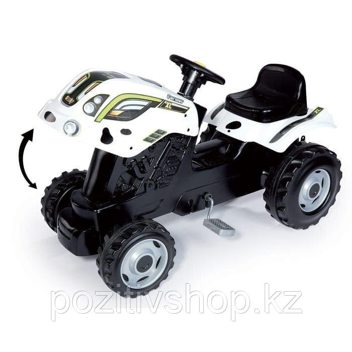 Детский педальный трактор Smoby XL с прицепом Коровка - фото 4