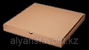 Коробка для пиццы,размер: 250*250*30 мм,гофро, бурая.РК, фото 2