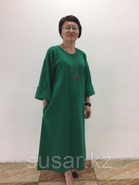Платье зеленое трапеция