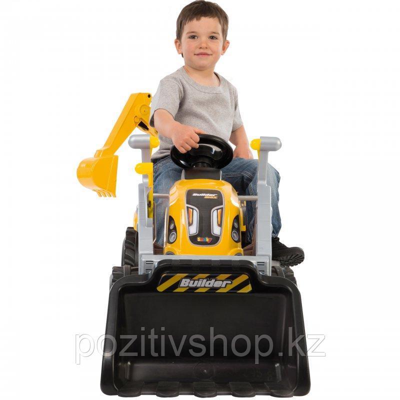 Детский педальный трактор Smoby с двумя ковшами - фото 2