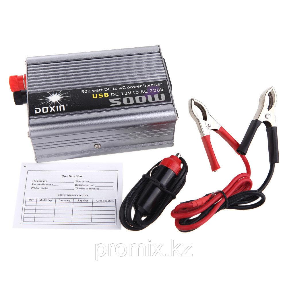 Преобразователь напряжения (инвертор) DOXIN 12В>220В, 500Вт.