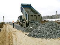 Строительство временной, технической дороги.
