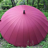 """Зонт-трость """"Парламент"""" бордовый, 24 спицы., фото 1"""