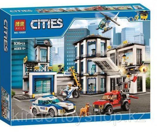 """Конструктор Bela 10660 """"Полицейский участок"""" (аналог лего Lego City 60141), 936 дет"""