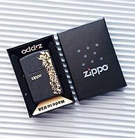 """Зажигалка """"Zippo"""" с узорами матовая, в подарочной коробке., фото 1"""