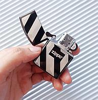 """Зажигалка """"Zippo"""" в полоску, в подарочной коробке., фото 1"""