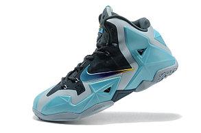 Баскетбольные кроссовки Nike LeBron 11 (XI) Blue Silver, фото 2
