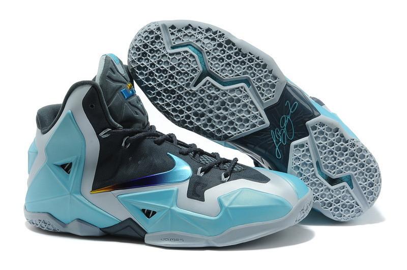 Баскетбольные кроссовки Nike LeBron 11 (XI) Blue Silver