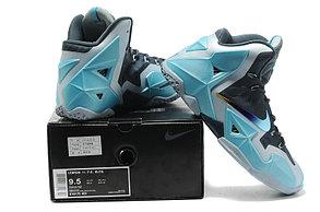 Баскетбольные кроссовки Nike LeBron 11 (XI) Blue Silver, фото 3