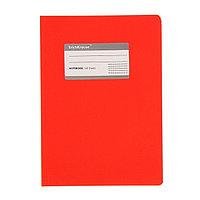 Тетрадь В5, 120 листов клетка ONE COLOR, с титульной этикеткой, красная